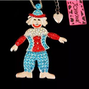 NWT•Betsy Johnson Circus Clown long necklace